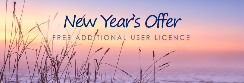 New Year's Offer - Free additional user licence